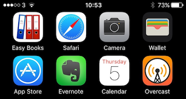 Image showing iPhone home screen with App Store app