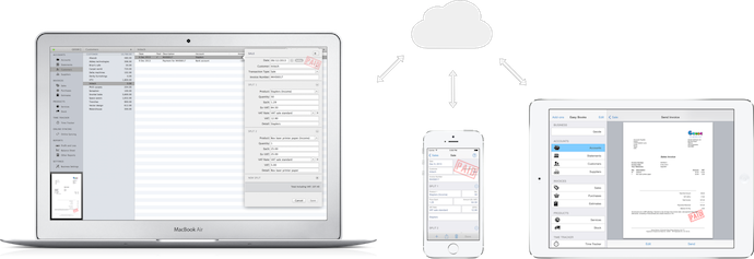 Easy Books Customer Online Sync - online backup and sync between devices