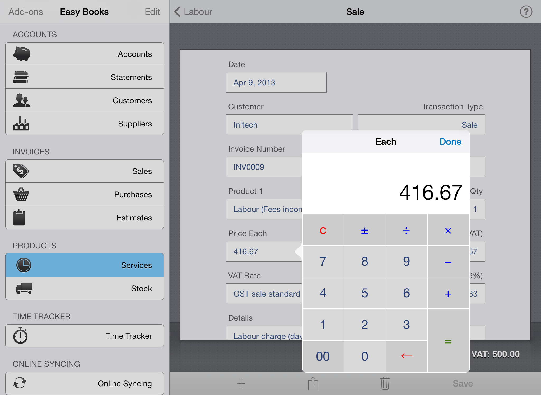 Send Professional Invoices For FreeInvoice By Wave Express Invoice - Invoice program for ipad